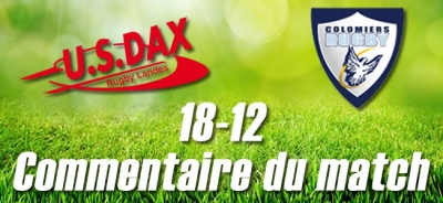 2016-2017 J17 : DAX - COLOMIERS - Commentaire du match