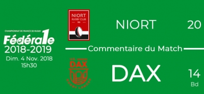 FED1 - 2018/2019 - J8 - NIORT - DAX : Commentaire du match